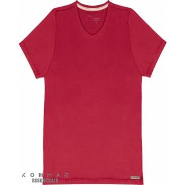 af5145694 Camiseta Básica Masculina Gola V 100% Algodão kohmar