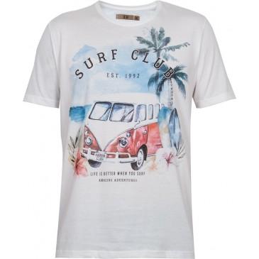 Camiseta manga curta Surf Club masculina 100% algodão- kohmar 8d4da382d5d