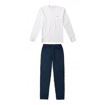 6e48cb93c Pijama Masculino Longo Liso Malwee Liberta