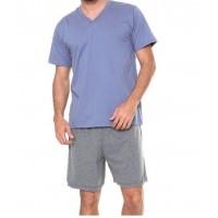 Pijama Masculino Curto Em Algodão Pzama - 6012.172