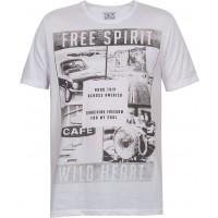 Camiseta Manga Curta Free Spirit Masculina kohmar-Branca