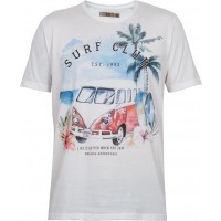 Camiseta manga curta Surf Club masculina 100% algodão- kohmar