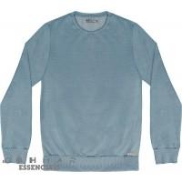 Blusão Moletom Manga Longa Masculino- Kohmar Azul Gelo Mescla