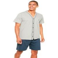 Pijama Masculino Curto Aberto 100% Algodão Pzama- 6014